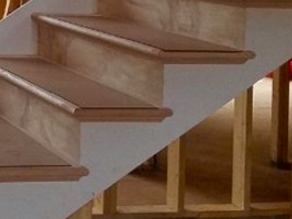 Primed LVL Stair Stringer and Primed Riser Material