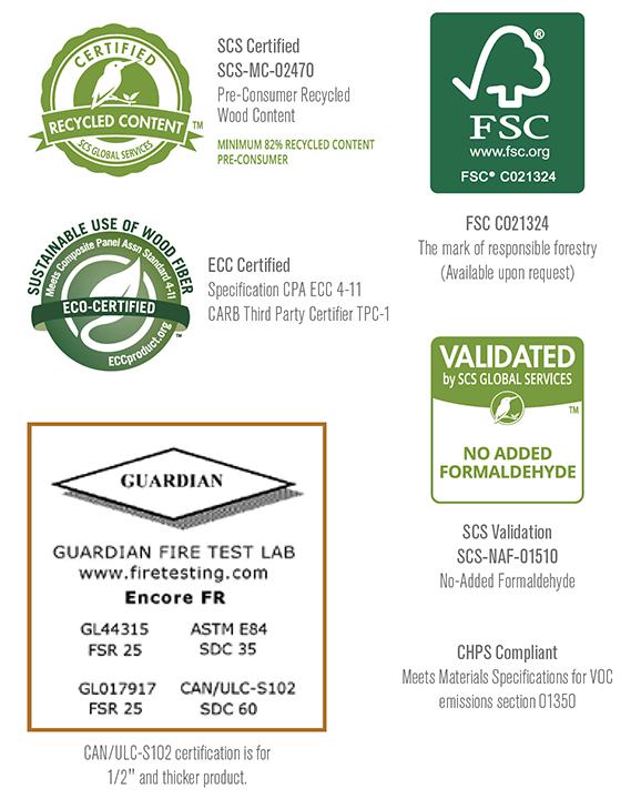 Encore FR certifications