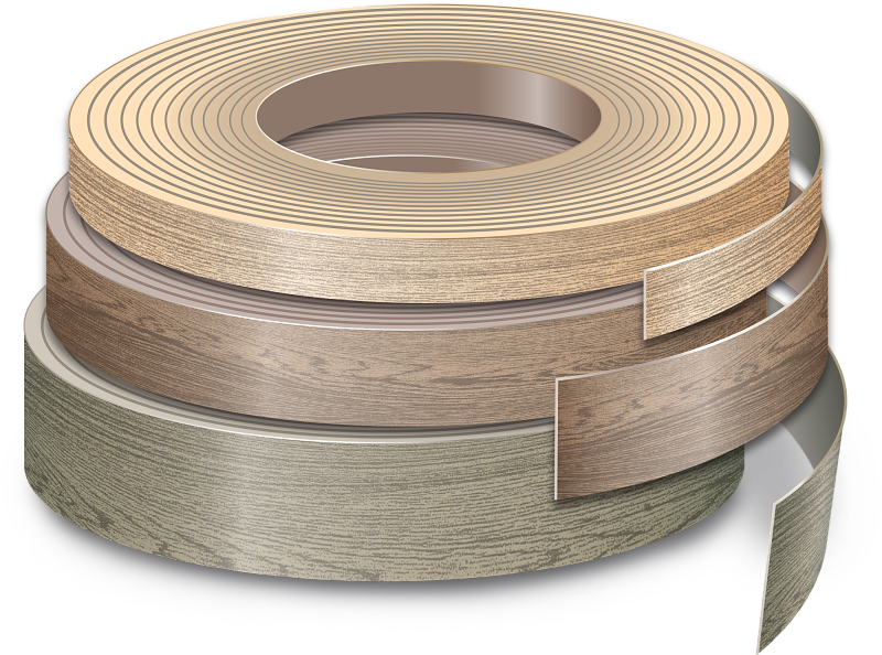 "The perfect edge finish For seamless edge finishing, you can rely on our range of prefinished edge bandings in various colors and styles. There are both ABS strips and veneer strips available. The veneered edges guarantee a refined finish while the ABS one ideal for applications with intensive use. Veneer 0,6mm available in height 24 or 48 mm (15/16"" or 1 5/8"") x 100 m (328 ft) ABS 1mm available in height 24 or 48 mm (15/16"" or 1 5/8"") x 50 m (164 ft)"